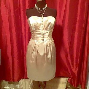 Champagne Gold Strapless Dress